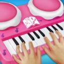 女孩粉红钢琴