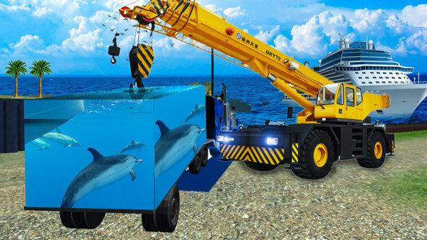海洋动物货运车模拟器