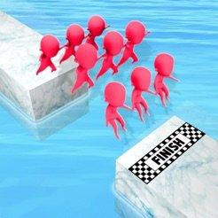 抖音一群小人跳水