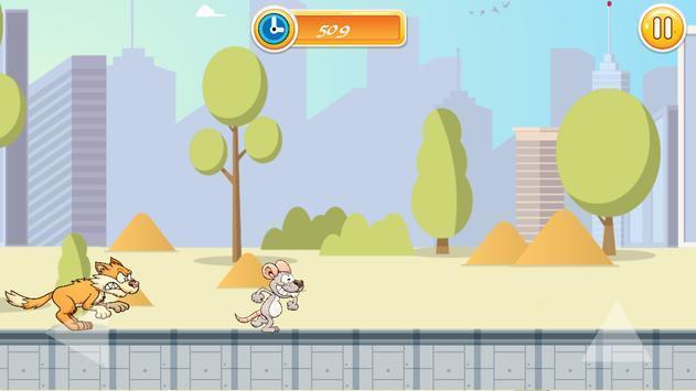 老鼠奔跑和跳跃