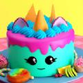獨角獸女孩制作蛋糕v1