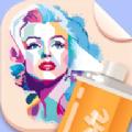 喷漆艺术名人画模板艺术v1.1