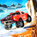 登山车驾驶雪山